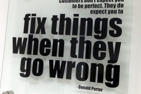 customers dont expect you to be perfect they do expect you to fix things when they go wrong